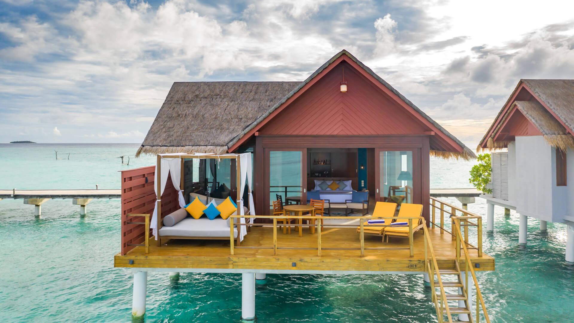 Furaveri Island Resort e Spa 5* - Foto di una palafitta dal mare