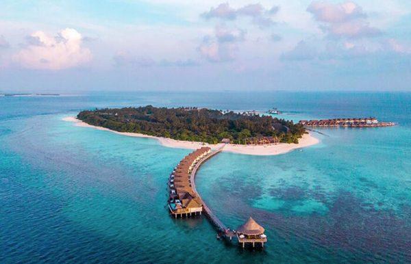 Furaveri Island Resort e Spa 5* - Foto dell'atollo e delle palafitte dall'alto
