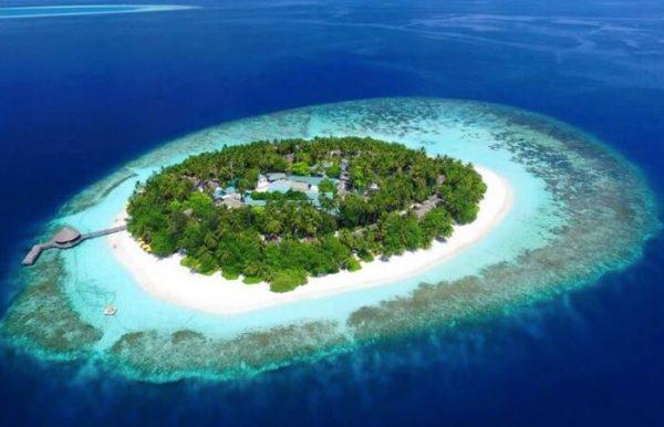Angsana Ihuru Island Resort e Spa 4* - Vista dall'alto dell'atollo